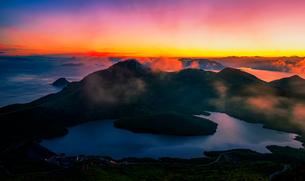 Sunset on the island,Fuding, Fujian, Chinaの写真素材 [FYI02351981]