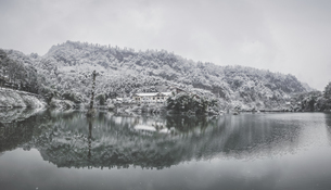 Snowscape of Mount Emei,Sichuan, Chinaの写真素材 [FYI02352064]