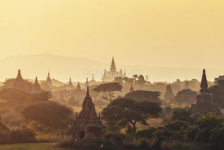 Sunset in Pugan, Myanmarの写真素材 [FYI02352169]