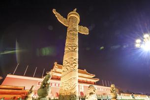Tian'anmen Square Huabiao,Beijing, Chinaの写真素材 [FYI02352290]
