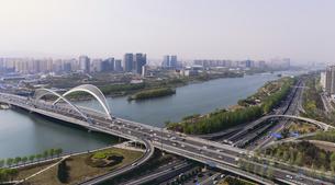 Taiyuan South Central Ring Bridge,Taiyuan, Shanxi, Chinaの写真素材 [FYI02352340]