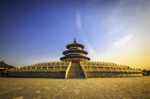 Temple of Heaven Park Prayer Valley Temple Prayer Hall,Beijing, Chinaの写真素材 [FYI02352572]