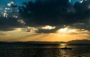 Dian Lake, Kunming, Yunnan, Chinaの写真素材 [FYI02352700]