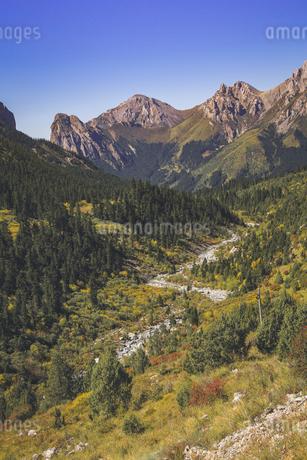 Gannan Jiangdi Highway,Tibet,Chinaの写真素材 [FYI02352744]