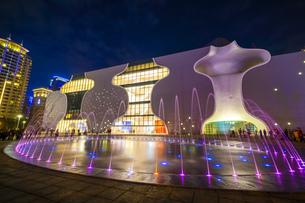 Taiwan,Taichung City,Taichung Opera House,Taichung National Opera,Opera House,Taichung Seventh Rezonの写真素材 [FYI02352775]