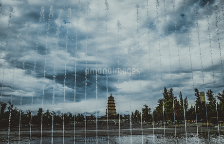 tower,Xi'an,Shanxi,Chinaの写真素材 [FYI02353096]