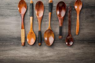 Wooden spoon,Chinaの写真素材 [FYI02353299]