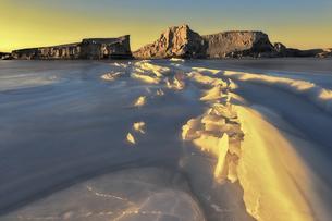 Winter Impression of Aquatic Yadan,Chinaの写真素材 [FYI02353540]
