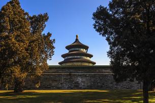 Temple of Heaven Park Prayer Valley Temple Prayer Hall,Beijing, Chinaの写真素材 [FYI02353632]
