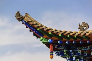 Wudang Temple, shuidonggou, Ningxia, Chinaの写真素材 [FYI02353659]