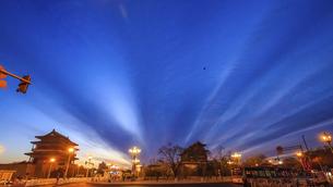 Zhengyang gate,Beijing, Chinaの写真素材 [FYI02353775]