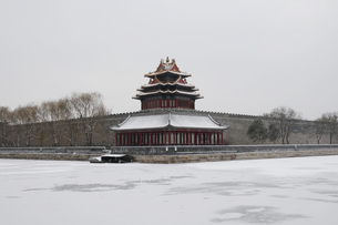 Snowscape of the Forbidden City Corner,Beijing, Chinaの写真素材 [FYI02353790]