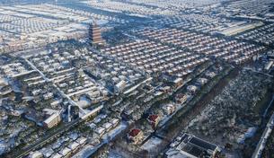 winter,Huaxi Village, Jiangyin City, Jiangsu Province, Chinaの写真素材 [FYI02353870]