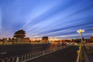 Zhengyang gate,Beijing, Chinaの写真素材 [FYI02353895]