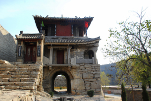 Yujia Stone Village,Hebei,Chinaの写真素材 [FYI02353904]