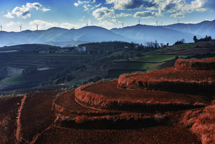 Yunnan Red Land,Yunnan,Chinaの写真素材 [FYI02354077]