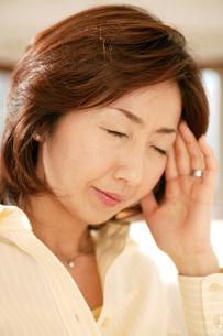 頭を抱える女性の写真素材 [FYI02354686]