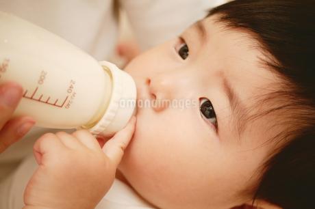 ミルクを飲む赤ちゃんの写真素材 [FYI02354839]