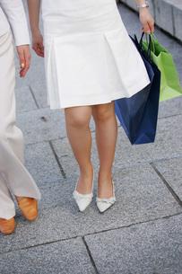 ショッピングバッグを持つ女性の写真素材 [FYI02354909]