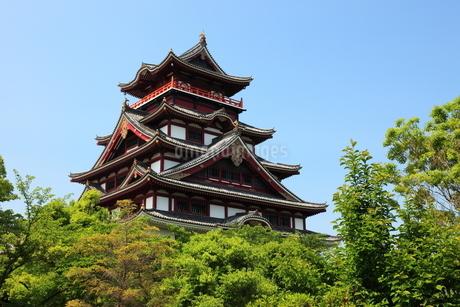 新緑の京都 伏見城天守閣の写真素材 [FYI02355270]