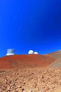 ハワイ島 マウナ・ケア山頂天文台群の写真素材 [FYI02355348]
