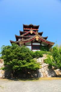新緑の京都 伏見城天守閣の写真素材 [FYI02355368]