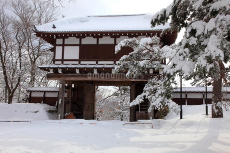 雪の久保田城の写真素材 [FYI02356000]
