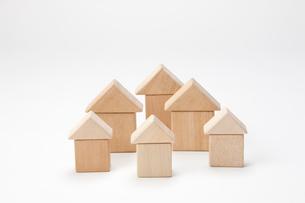 積み木の家の集合の写真素材 [FYI02356608]