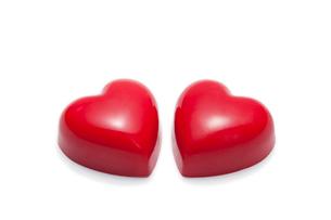 赤いハートのチョコレートの写真素材 [FYI02356778]