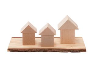 白バックの積み木の家の写真素材 [FYI02356786]
