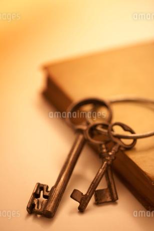三本の鍵とアンティークな本の写真素材 [FYI02356840]