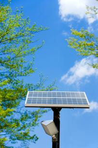 ソーラーパネルと青空の写真素材 [FYI02356869]