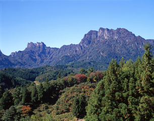 初秋の妙義山の写真素材 [FYI02357207]