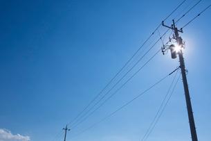 電柱と電線の写真素材 [FYI02357476]