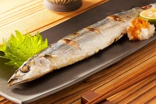焼き魚サンマの写真素材 [FYI02357720]