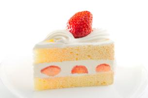 イチゴのショートケーキの写真素材 [FYI02357767]