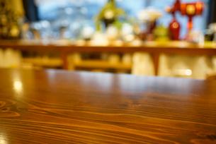 カフェのカウンターの写真素材 [FYI02357834]