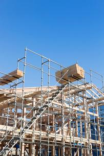 建築中の木造住宅の写真素材 [FYI02357840]