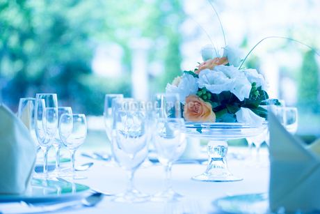 レストランのテーブルの写真素材 [FYI02358029]