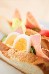 ハムと卵のサンドイッチの写真素材 [FYI02358221]