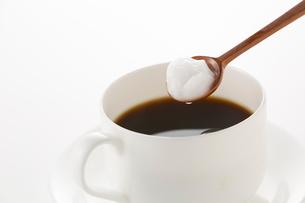 コーヒーとココナッツオイルの写真素材 [FYI02358639]