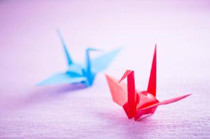 折り紙の鶴の写真素材 [FYI02358819]
