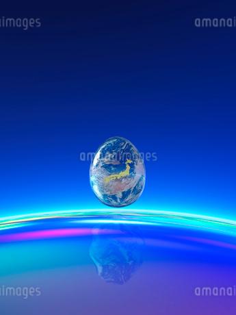 卵型の地球 CGのイラスト素材 [FYI02359405]
