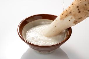 すり鉢と長芋の写真素材 [FYI02359694]