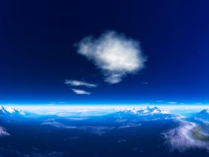 惑星の地形と空のイラスト素材 [FYI02359840]
