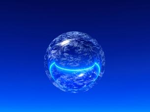 光る球体と線 CGのイラスト素材 [FYI02360020]