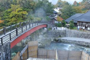 秋の湯西川温泉の写真素材 [FYI02362944]