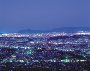 福岡市街の夜景の写真素材 [FYI02366355]