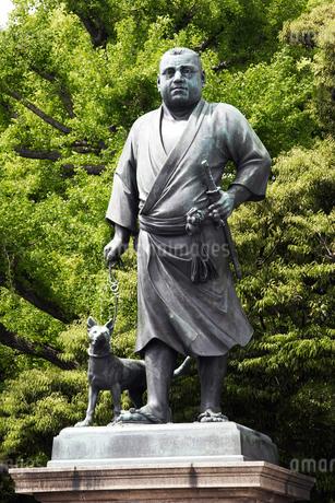 上野公園の西郷隆盛像の写真素材 [FYI02373326]