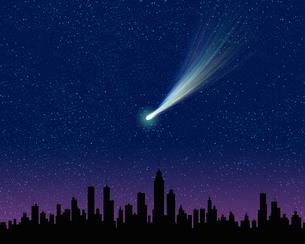 彗星のイラスト素材 [FYI02374822]